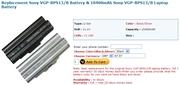 Sony VGP-BPS13/B Battery