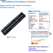 Dell Latitude E5520 Battery