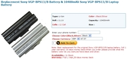 Sony VGP BPS13 B Battery
