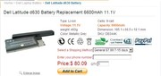 Dell Latitude d630 Battery