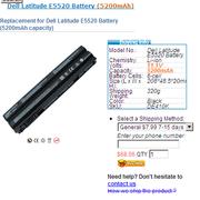 Dell Latitude E5520 batteries