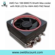 AMD Fan 199-999575 Wraith Max cooler with RGB LED for AM4-AM3-FM2 Reta